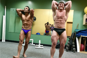 Flex Fitness Center Members preparing for their upcoming bodybuilding competitions