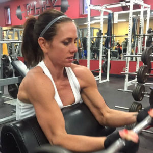 girls with muscle in the gym