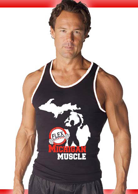 michigan muscle tank for the gym